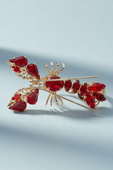 Anton heunis - lobster Swarovski crystals