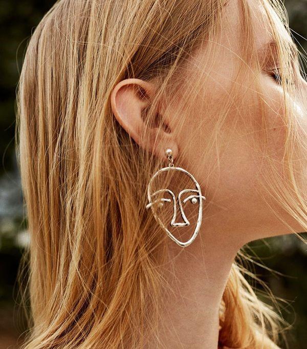 Metal earrings - Mango