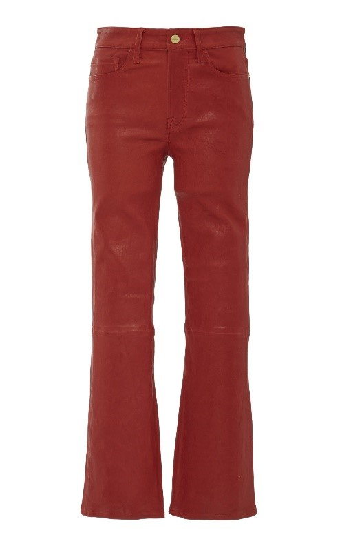 Red leather Boot pants - Frame