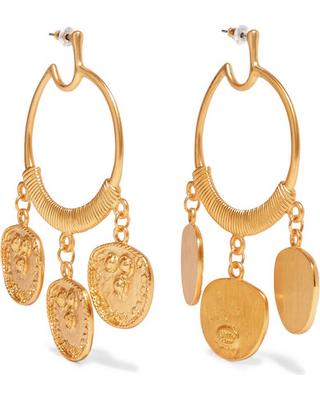 Gold plated earrings - Kenneth Jay Lane